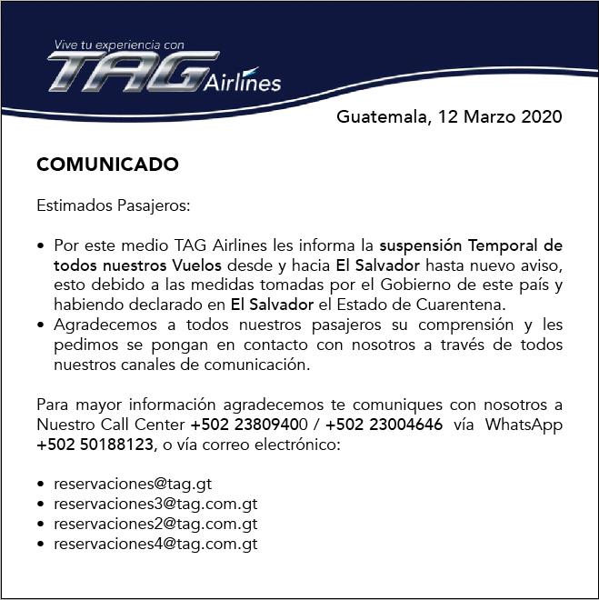 Comunicado de El Salvador