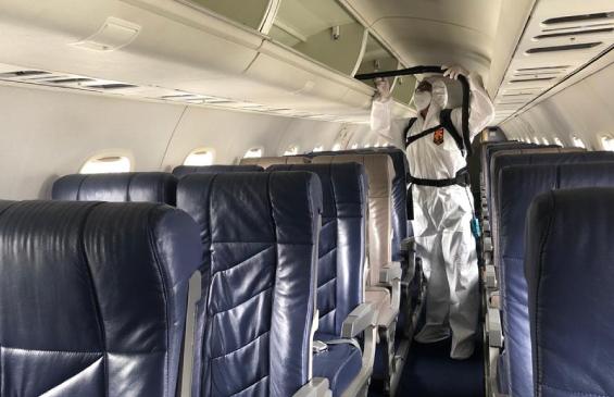 Sanitización de aeronaves